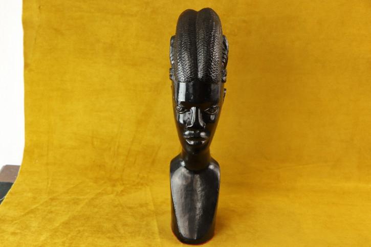 Figur weiblicher Kopf  ebenholz