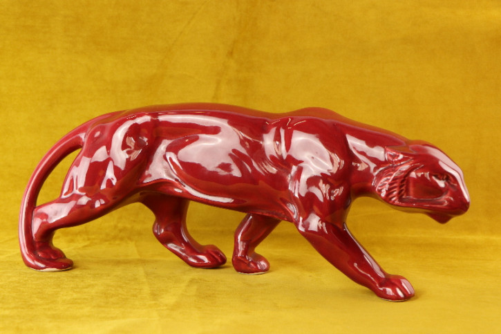 Figur Jaguar   Art Deco Original france Porcelan