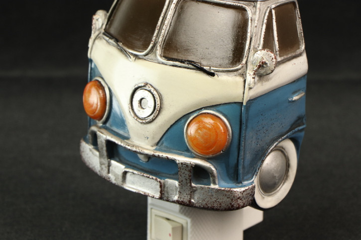 Nachtlicht VW Bus Bully Blau Weiss