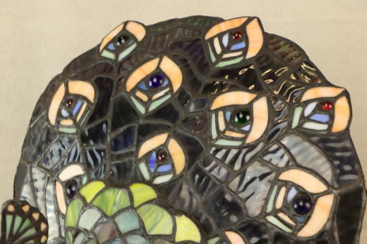 Tiffany Glas Lampe Pfau Tischlampe