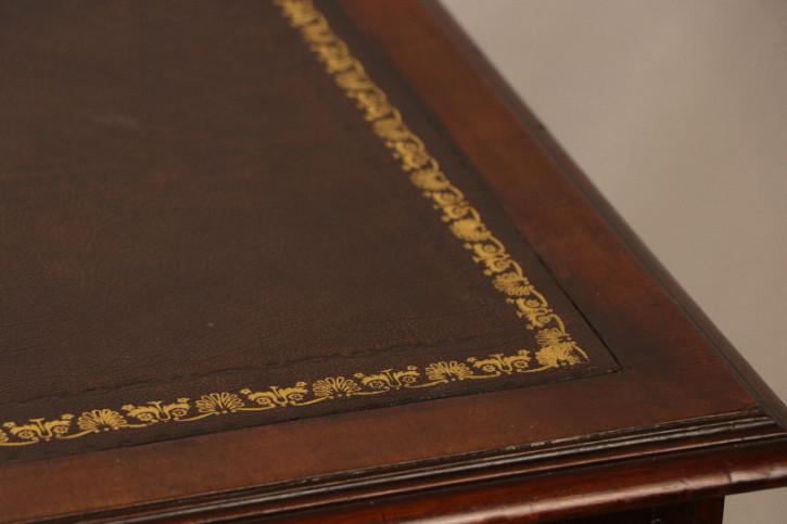 Schreibtisch Leathertop  Pedastal Mahagoni England