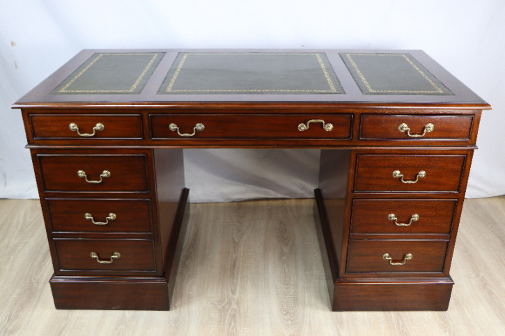 Schreibtisch Mahjagoni Prdastal desk Lederplatte