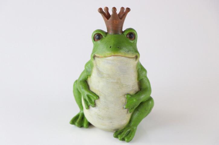 Lustige Vintage Froschkönig Dekorations Figur