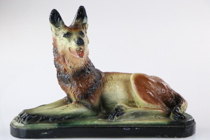 Antike Schäferhund Figur, Keramik Dekoration