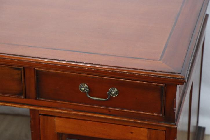 Schreibtisch Mahagoni Pedestal desk 9 schubladen