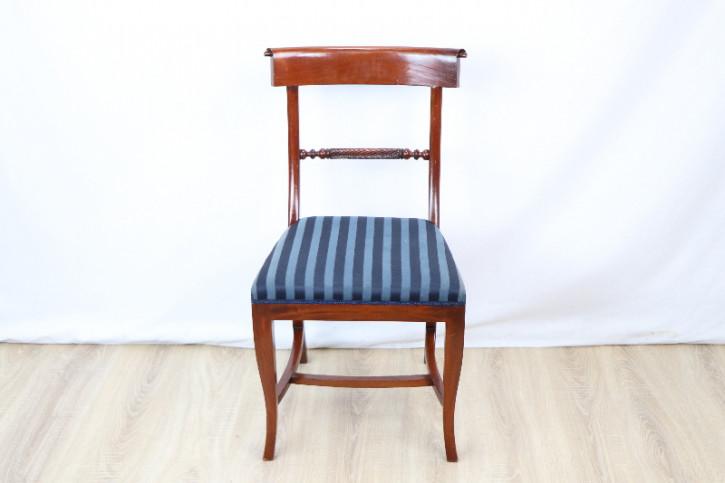 Mahagoni chair  Stoffbezogen Massivholz