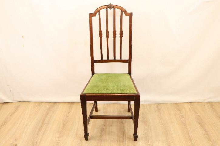 Stuhl  5 Set   Mahagoni Edwardian mit Stoffsitzen