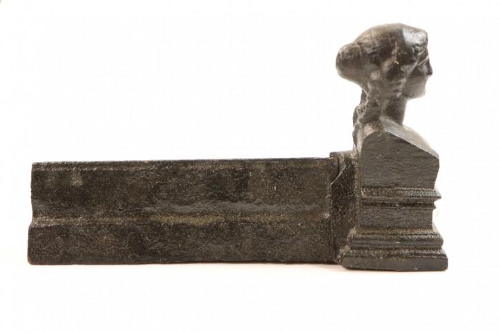 Schöne antike Halterung für Kaminschirme, Kaminholz