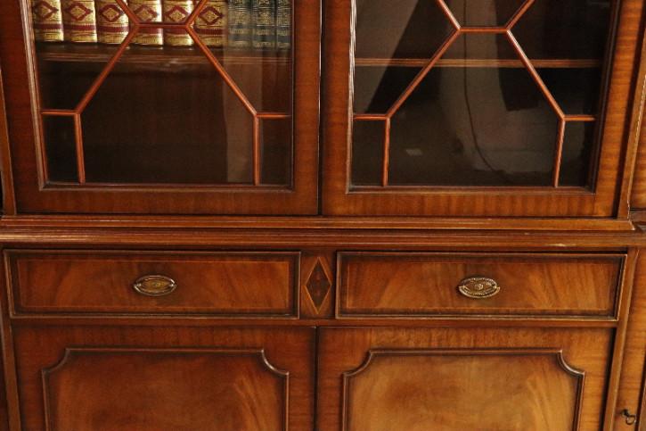 Breakfront/Vitrinenschrank Bookcase Regencyverglasung