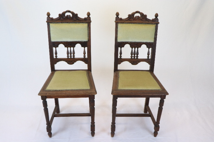 Set:2 Eichenstühle Henry II  Frankreich Massivholz