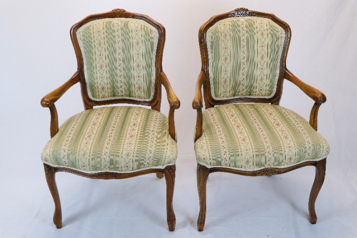 Armchairs FRance  Sessel Set:2  Massivholz