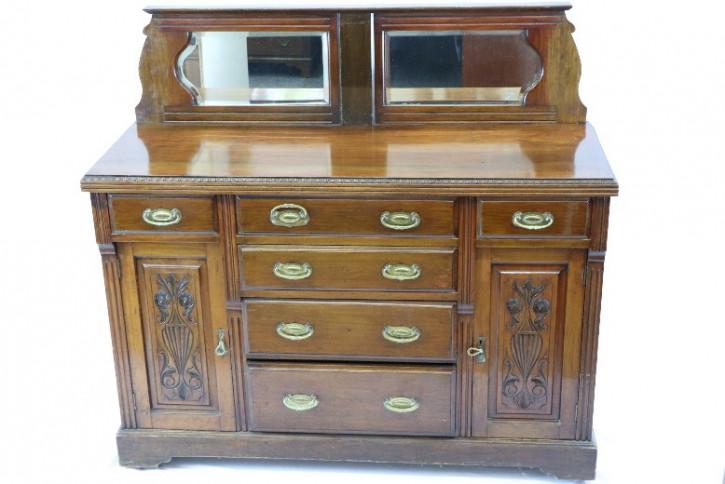 Sideboard Mahagoni England 1860 Viktorian Original