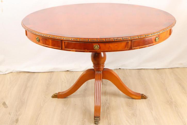 Antiker Massivholz Tisch / library table mit Schubladen