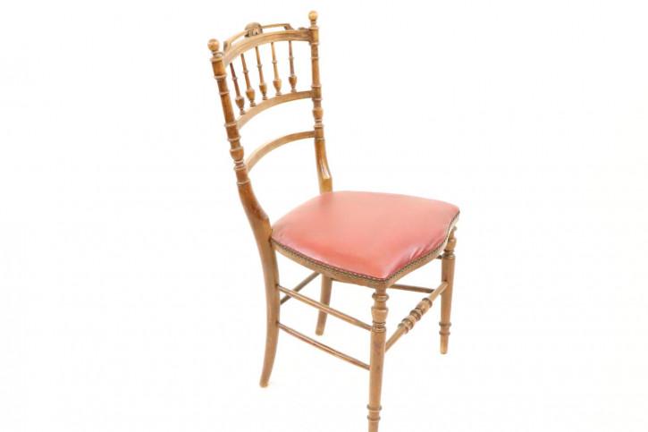 Antiker Ladder Back Stuhl mit bequemen Polster
