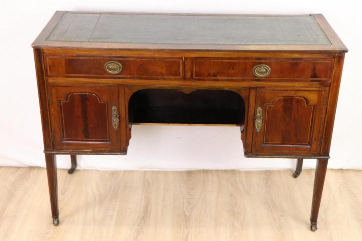 Antiker Damen Schreibtisch mit Schreibfläche aus Leder  Edwardian england , mit Rollen