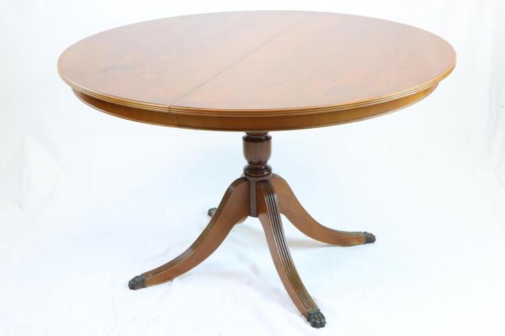 Antiker runder Esstisch auf einer Säule