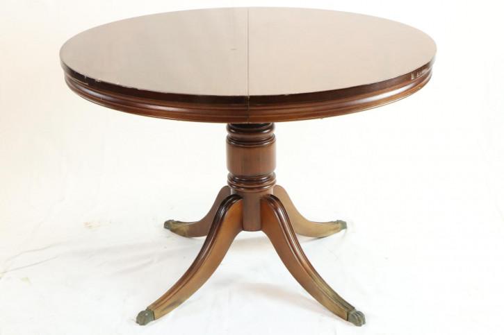 Antiker runder Esstisch ausziehbar Mahagoni