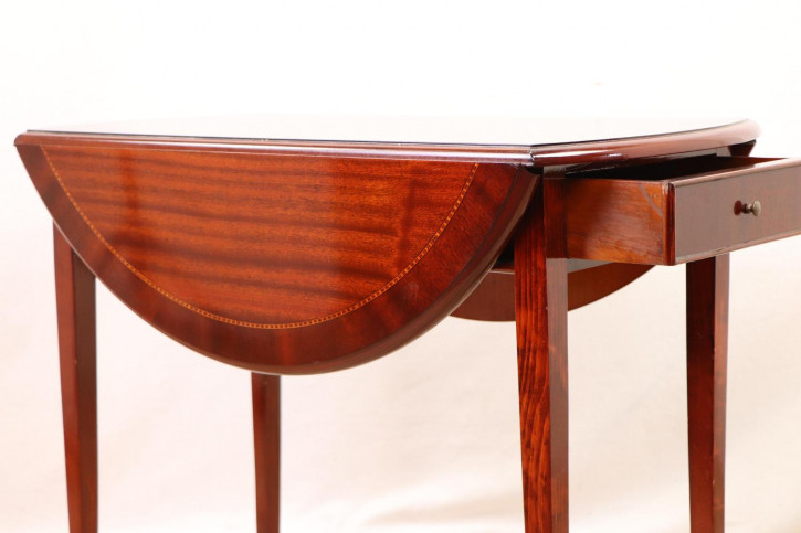Eleganter Pembroke Table aus Massivholz, Esstisch, Ausklappbarer Beistelltisch