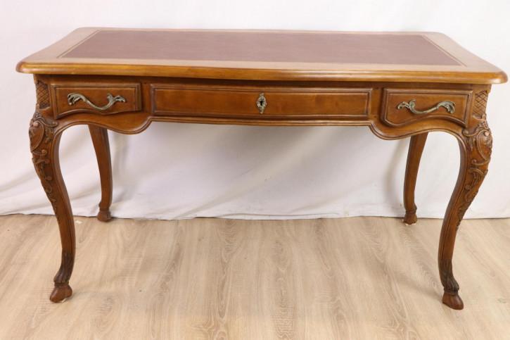 Schöner Writing Table / Schreibtisch mit edlen Schnitzerarbeiten