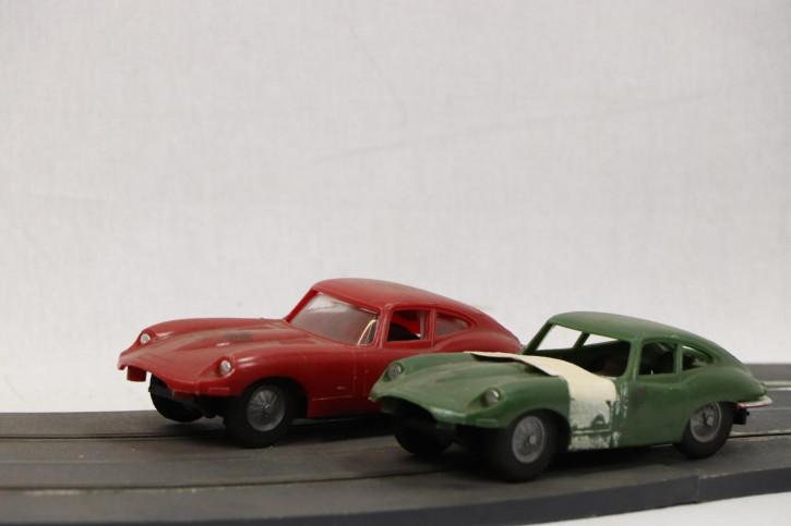 Vintage Spielzeugautos mit Bahn, französisch