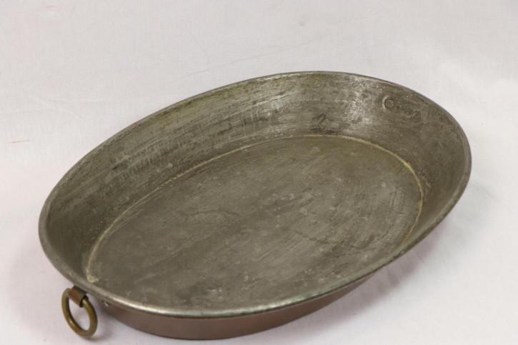 Vintage Metallschale oval