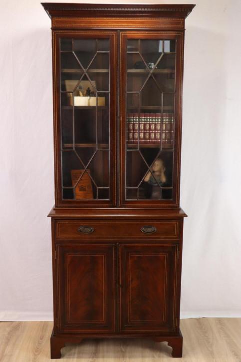 Schöner zweitüriger Bücherschrank / Two Door Bookcase, Regency Stil