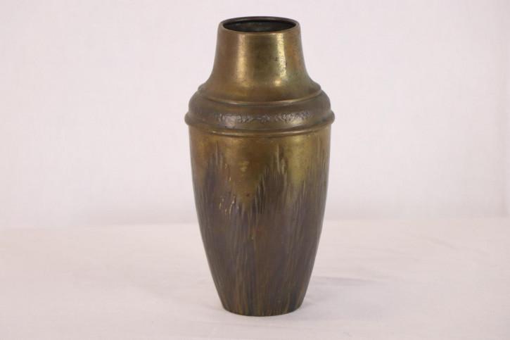 Antike Messing Vase mit schönem Relief