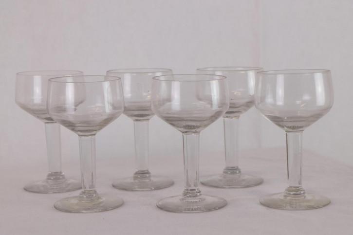 6-er Set Vintage Coupé Cocktail Gläser