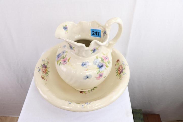 Niedliches Jug and Bowl Set aus Keramik