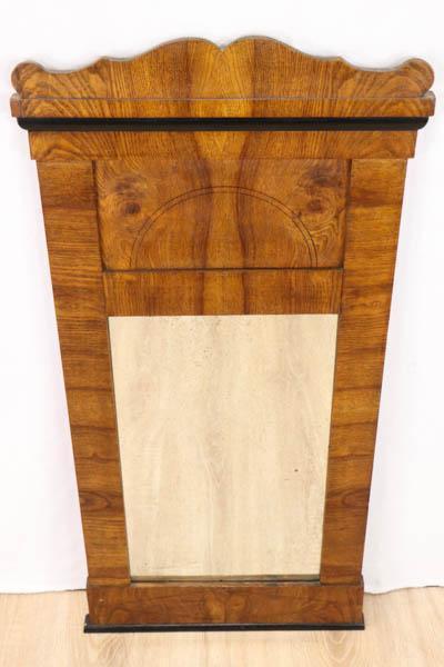 Antiker Biedermeier Wandspiegel aus Massivholz