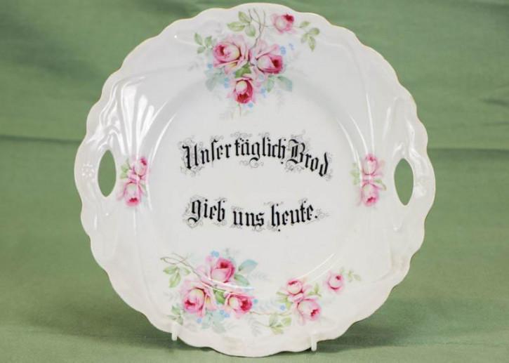 Einzelner Porzellan Dessertteller mit Blumenmotiv