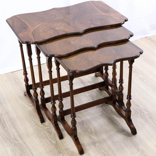 Antikes Nest of Tables aus Mahagoni, ca. 1910