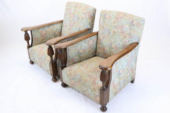 2 antike englische Sessel, Eiche, ca.1870