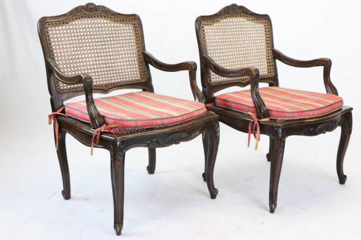 2 antike Mahagoni Sessel, Chippendale Style, ca. 1880