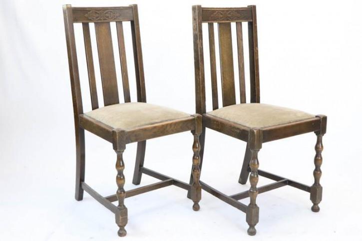 Paar originale, antike Landhaus Stühle, Eiche, ca. 1920