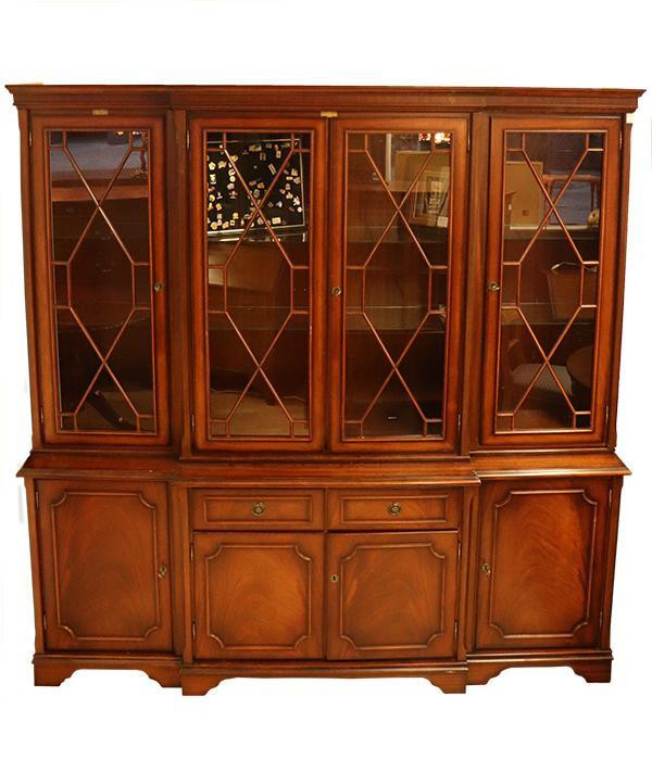 Klassisches Breakfront Bookcase, Eibe, Regency Style