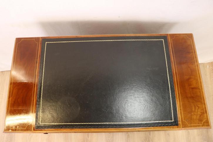 Massivholz Mahagoni Schreibtisch Lady's Desk im Viktorianischen Stil mit Lederplatte
