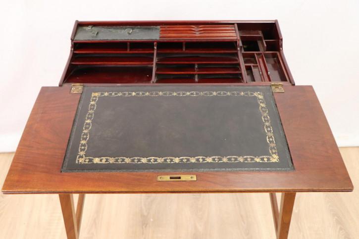 Massivholz Arbeitstisch / Writing Table mit Ledereinlage