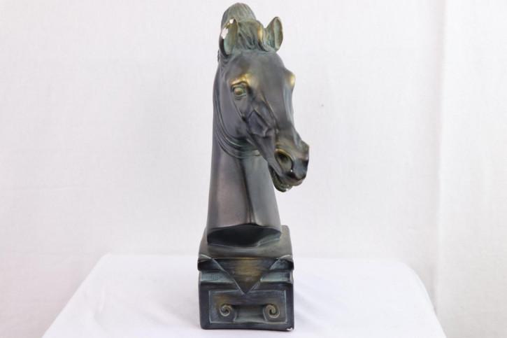 Pferde Kopf Figur Skulptur Büste Statue Ton original antik