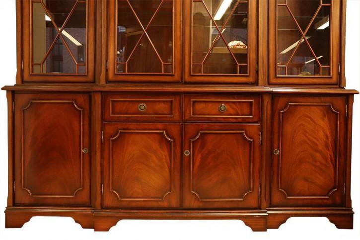 Klassisches Breakfront Bookcase, Eibe, Regency Style