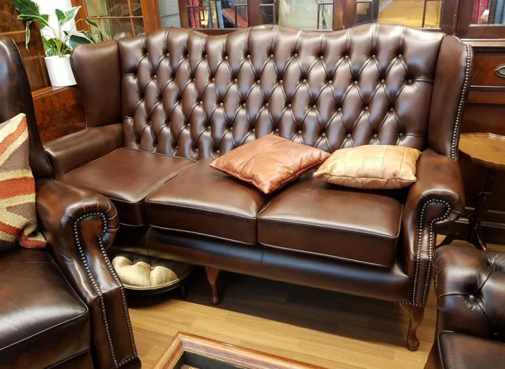 """""""Queen Anne"""" 3-Sitzer in Antique Brown"""