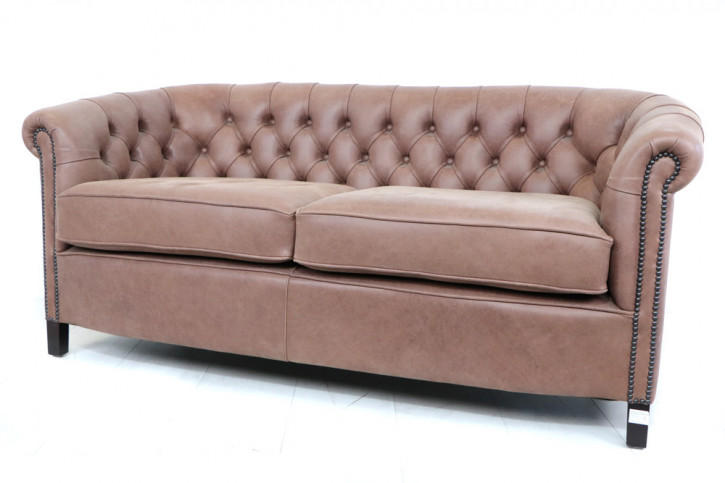 """Chesterfield Clubsofa """"Diana"""" 3-Sitzer Selvaggio New England Sofort Lieferbar"""