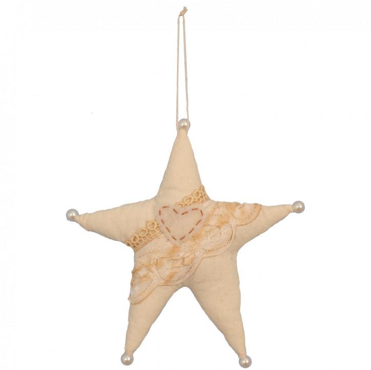Hänger in Sternform hanging 15 cm