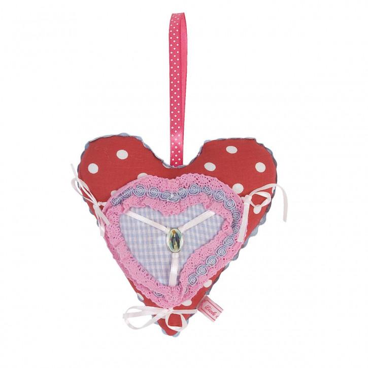 Rotes Deko Herz mit Punkten 15*15cm