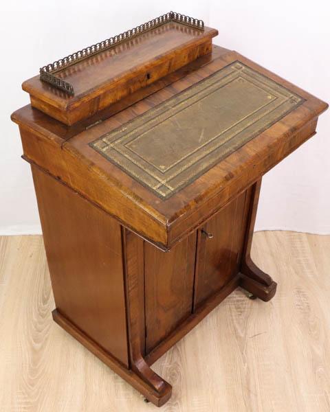 Antiker Davenport Desk, Wurzelholz, ca. 1860