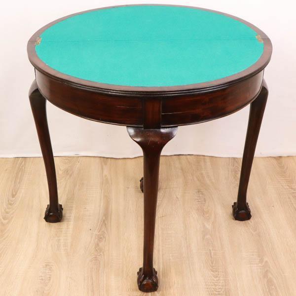 Antiker Kartentisch / Spieltisch im Georgian Style, aufklappbar, Mahagoni, 19. Jahrhundert