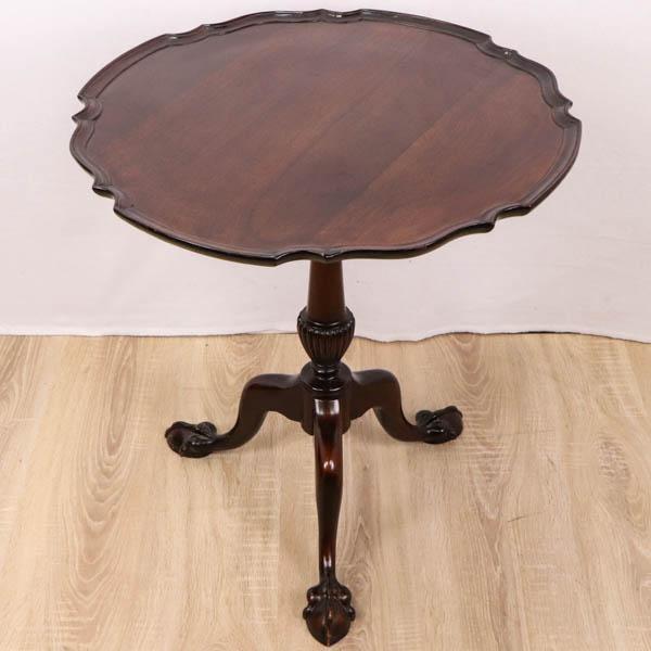 Antiker Weintisch / Wine Table, hochklappbar, Mahagoni, ca. 1860
