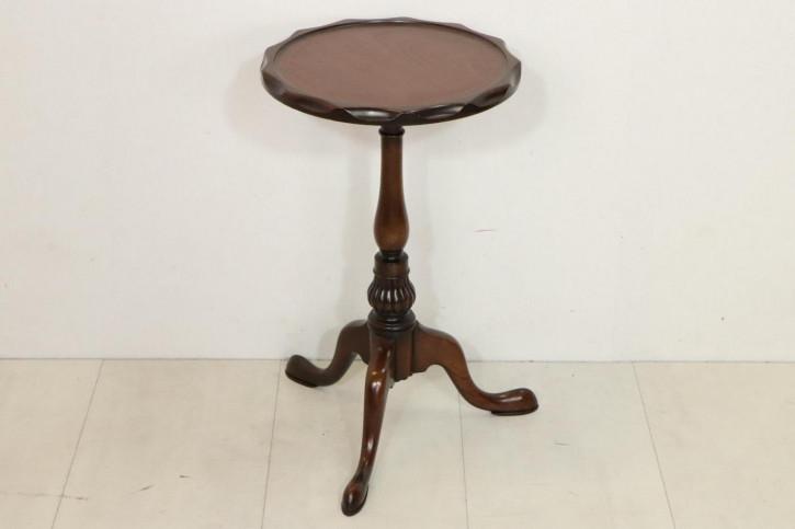 Antiker Wine Table / Weintisch mit ausgefeilter Kante, Mahagoni, ca. 19. Jahrhundert