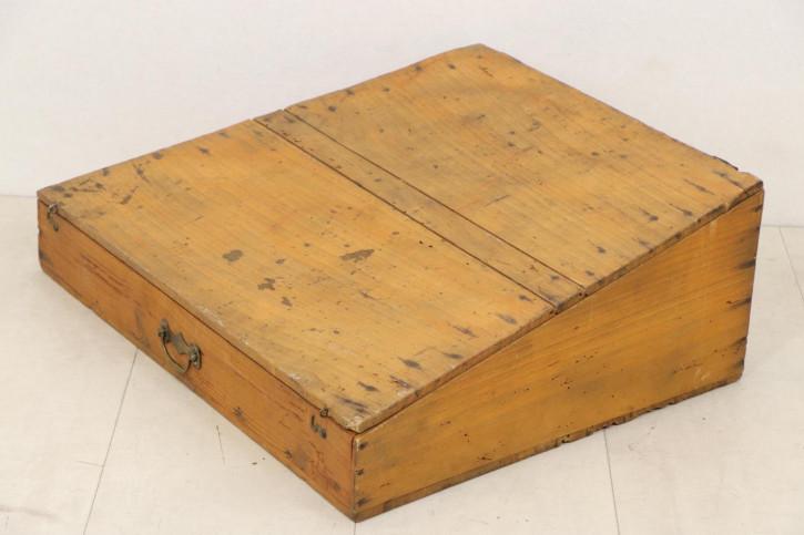 Antikes Tischpult, massives Weichholz, ca. 1900