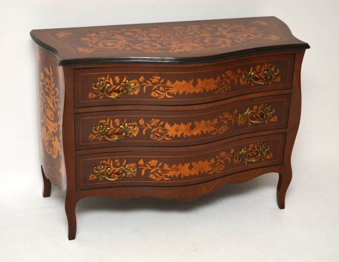 Antike Dutch Marquetry Kommode / Chest of Drawers